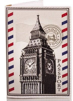 Практичная мужская обложка для паспорта из кожзама PASSPORTY (ПАСПОРТУ) KRIV095 (серый)