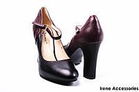 Туфли женские кожаные каблук Geronea
