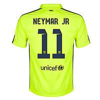 Футбольная форма Барселона Неймар (Neymar) 2014-2015 выездная (салатовая)
