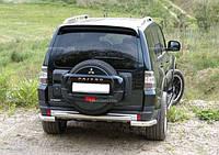 Защита заднего бампера Pajero Wagon -IV (07+)