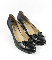 Черные женские кожаные туфли
