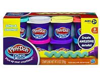 Play Doh. Набор из 8 баночек пластилина Плей До Плюс