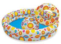 Бассейн детский с мячом и кругом 59460  122х25см.