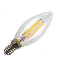 Светодиодная лампа Delux BL37B Filament LED 4W 2700K E14 свеча прозрачная