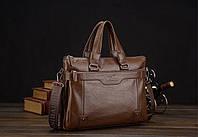 Стильная, деловая кожаная сумка