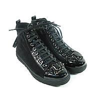 Молодежные модные ботиночки на шнурках
