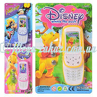 Детский интерактивный телефон Disney: 3 вида, свет/звук