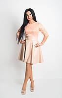 Модное однотонное женское платье, фото 1