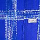 Теплый женский шерстяной шарф 190 на 70 см ETERNO (ЭТЭРНО) ES1405-8-5, синий, фото 2