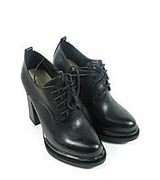 Ботильоны женские черные на шнурках