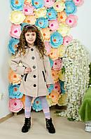 Пальто для девочки кашемировое беж, фото 1