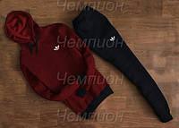 Мужской спортивный костюм Adidas (бордовый с кенгуру)