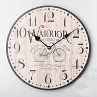 """Настенные круглые часы """"Велосипед"""" (35 см)"""