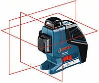 Линейный лазерный нивелир (построитель плоскостей) Bosch GLL 3-80 P + вкладка под L-Boxx  (0601063305)