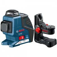 Линейный лазерный нивелир (построитель плоскостей) Bosch GLL 3-80 P + BM1 (новый) + LR2 в L-Boxx (060106330A)