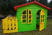 XXL садовий, дитячий будиночок для ігор з огорожею