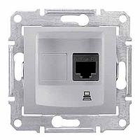 SDN4300160. Компьютерная розетка RJ45 UTP кат.5е SE. Алюминий. Sedna