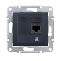 SDN4300170. Компьютерная розетка RJ45 UTP кат.5е SE. Графит. Sedna