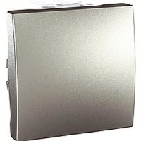 MGU3.205.30. Переключатель перекрестный 1-клавишный (СХ.7) 2-модульный. 10 А, Алюминий Unica