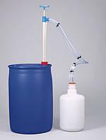 5610-1030 Насос для бочек газонепроницаемый, ПП, универсальный адаптер (диам. 30–70 мм) , 200мл/такт