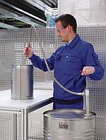 5601-0801 Насос для бочек нерж.сталь, сливная гибкая трубка и кран, глубина погр. 91 см, 560 мл/такт
