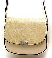 Модная сумочка через плече David Jones, бежевая
