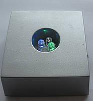 Светодиодная LED подставка с подсветкой  высота 3,0 см. основа  6,5 см.