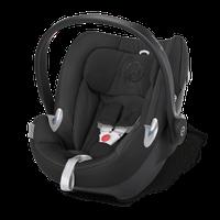 Автокресло переноска для детей Aton Q  Happy Black-black черное CYBEX 516105003