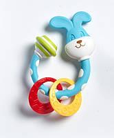 """Погремушка и текстурный прорезыватель для детских зубов """"Зайчик"""" Tiny Love Тини Лав 1110400458"""