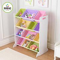 Стеллаж с ящиками для игрушек 12 Bin Pastel Kidkraft 15450