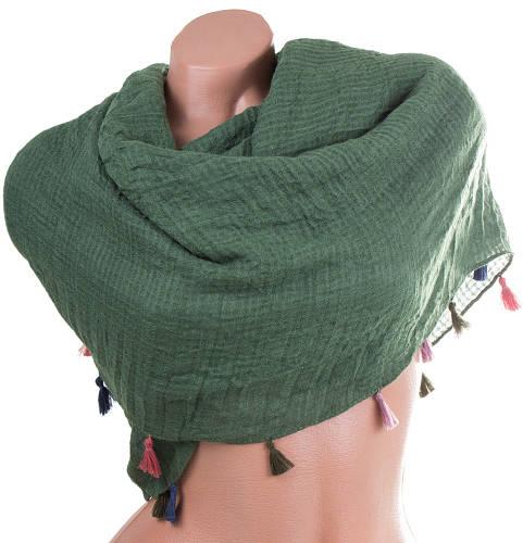 Стильный женский хлопковый шарф 176 на 122 см. ETERNO (ЭТЭРНО) ES1405-15-4