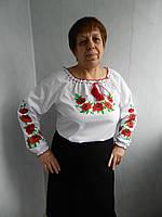 Женская вышиванка Маки. Размер  58- 60.