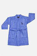 Детский махровый халат U.S. Polo Assn USPA  MAVI 5-6 лет.