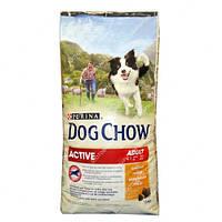 NESTLE Purina dog chow active с курицей 14 kg