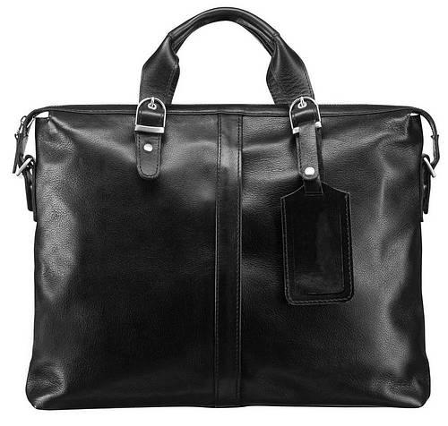 Практичная мужская кожаная сумка BLAMONT BN004A