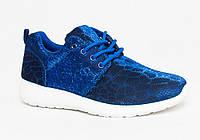 Блестящие женские кроссовки для бега синие