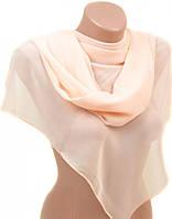 Легкий женский шарф 52 на 152 из легкого шифона 10112 A3