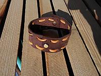 Браслет аксессуар кожаный коричневый от BRUTAL (Hand Made)