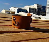 Браслет аксессуар кожаный с якорем от BRUTAL(Hand Made)