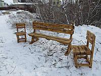 Лавка + 2 стула. Садовая мебель. Мебель для дачи.