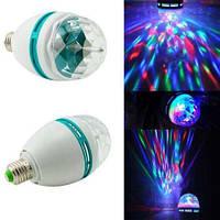 Диско лампа LED lamp вращающаяся  для вечеринок