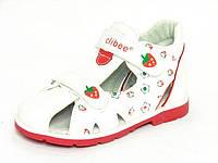 Летняя ортопедическая детская обувь Clibee арт.F-73 белый (Размеры: 19-24)