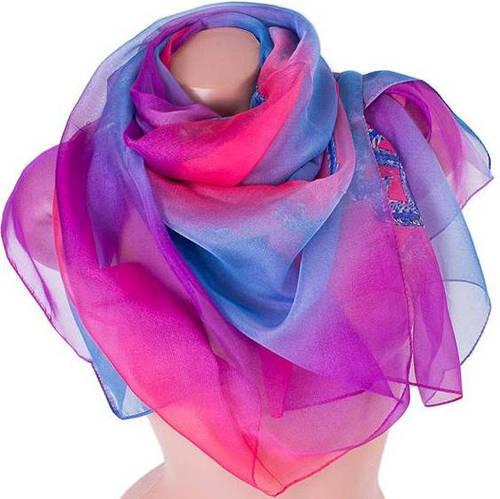 Яркий женский замечательный шарф 140*136 см ETERNO (ЭТЕРНО) ES0206-28-3