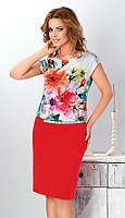 Женское летнее платье из вискозы с цветочным рисунком. Модель Nikol Top-Bis, коллекция весна-лето 2016.
