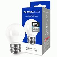 LED GLOBAL 5W Шарик E27 4100K G45
