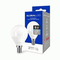 LED GLOBAL 5W Шарик E14 4100K G45