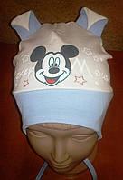 Детская шапочка Микки на завязках