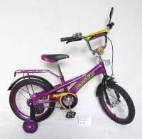 Детский велосипед для девочки фиолетовый