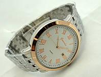 Часы мужские стальные Guardo , Made in Italy, цвет серебро с золотом, стальной браслет