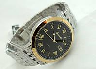 Часы мужские стальные Guardo , Made in Italy, цвет серебро с золотом, стальной браслет, черный циферблат